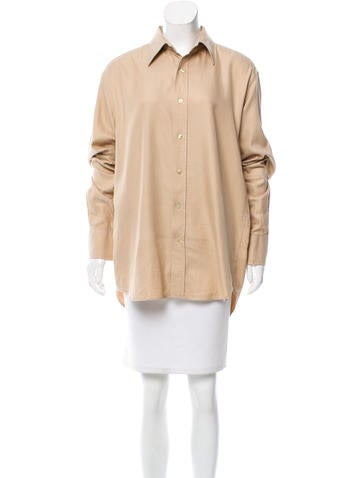Yves Saint Laurent Oversize Button-Up Top None