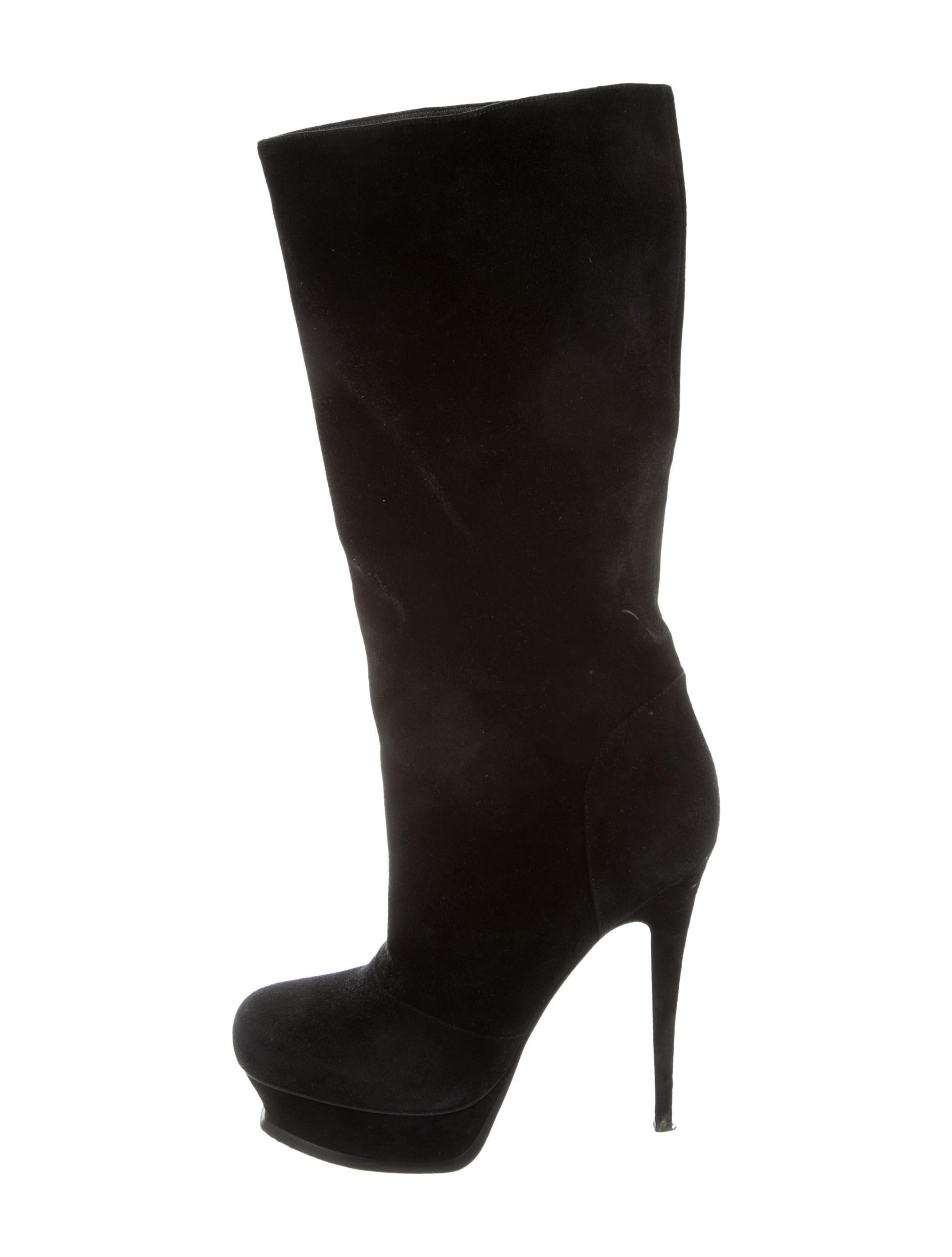 yves laurent suede platform boots shoes yve65344