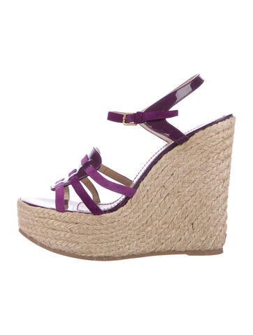 Yves Saint Laurent Multistrap Espadrille Wedges None
