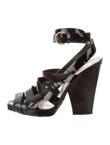 nicekicks for sale cheap sale deals Yves Saint Laurent Patent Leather Multistrap Sandals mTfBbPD