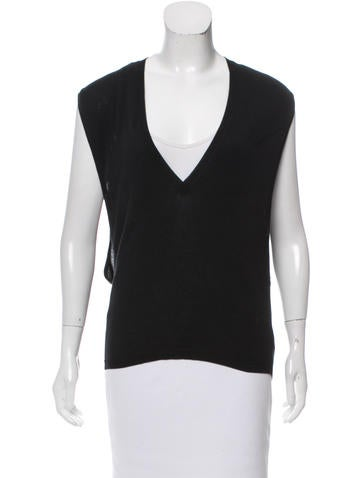Yves Saint Laurent Sleeveless V-Neck Sweater None