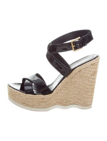 Yves Saint Laurent Crossover Platform Espadrilles None