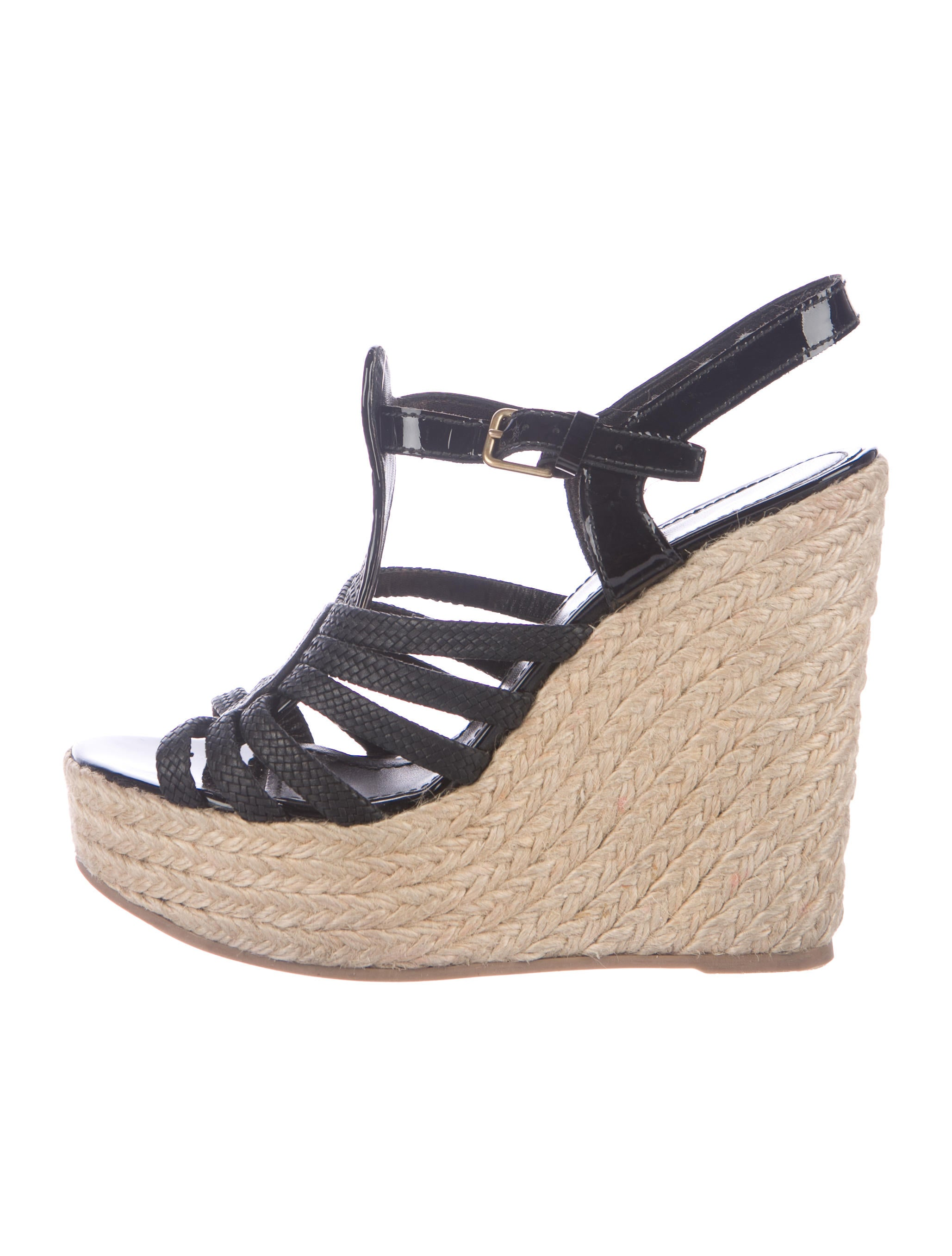 Yves Saint Laurent Platform Espadrille Wedges - Shoes - YVE66119 ... 313a716d39
