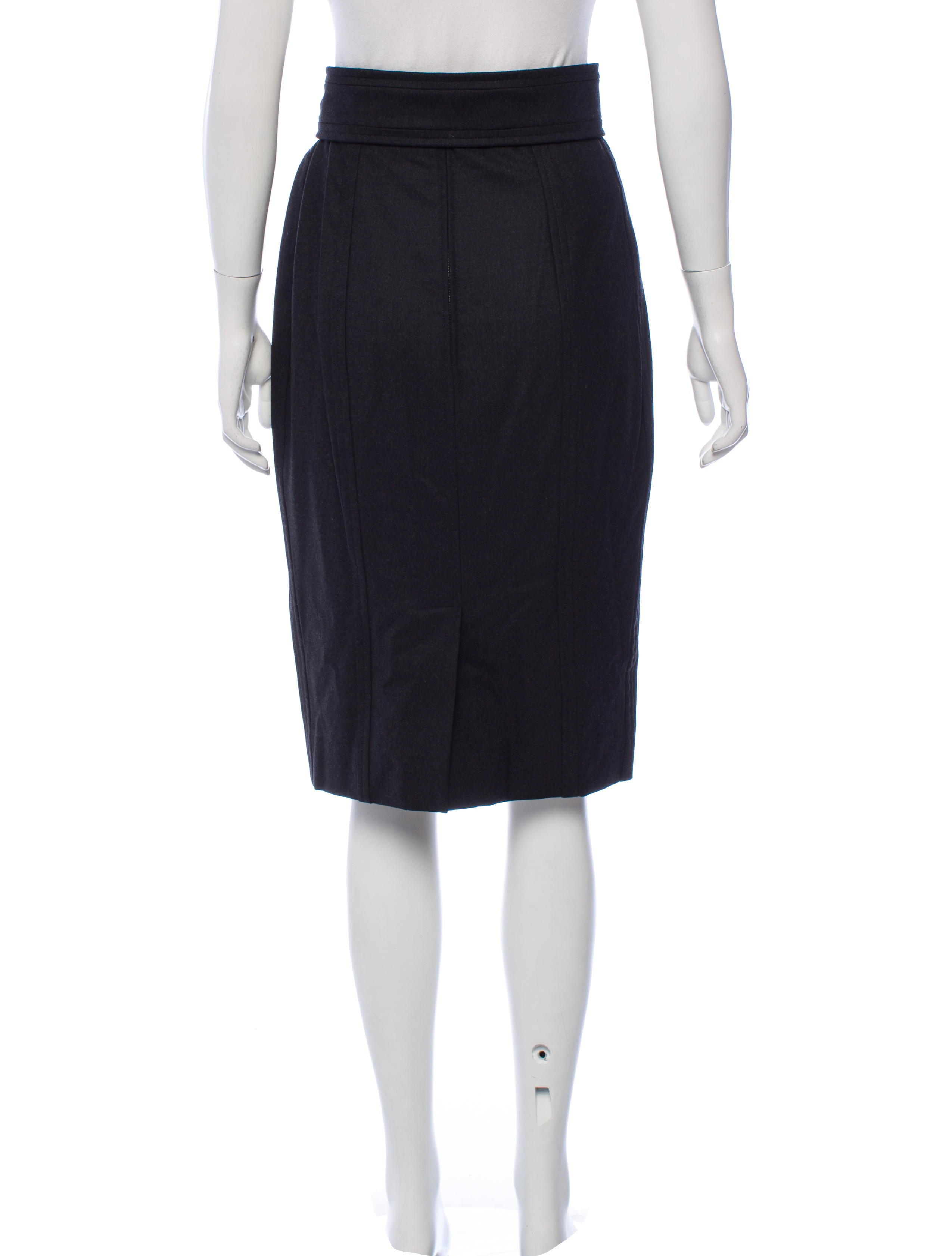 Yves saint laurent belted wool pencil skirt w tags for 66125 3
