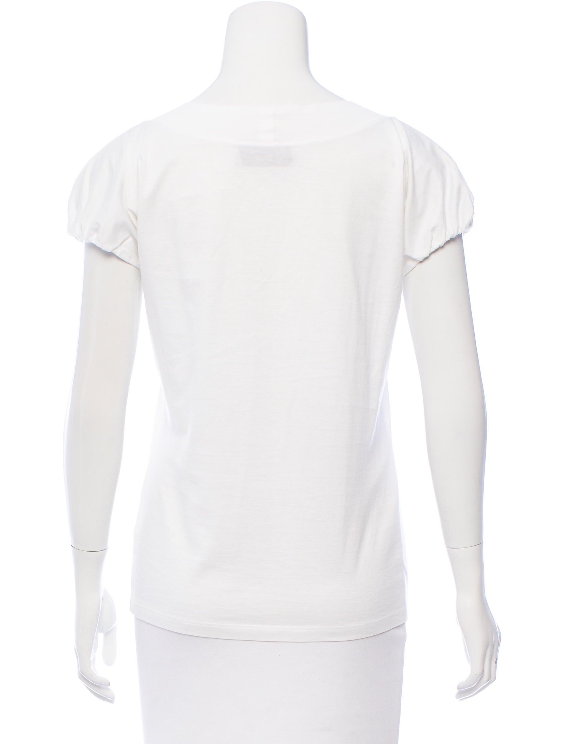 Yves saint laurent scoop neck short sleeve t shirt for Yves saint laurent white t shirt