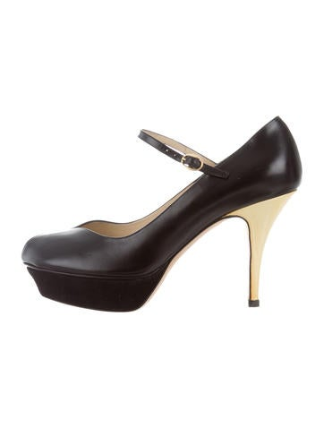Yves Saint Laurent Peep-Toe Platform Pumps None