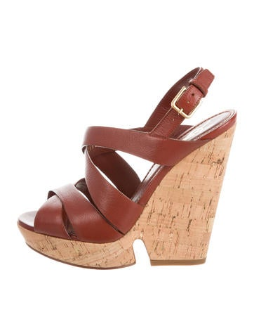 Yves Saint Laurent Crossover Platform Wedges None
