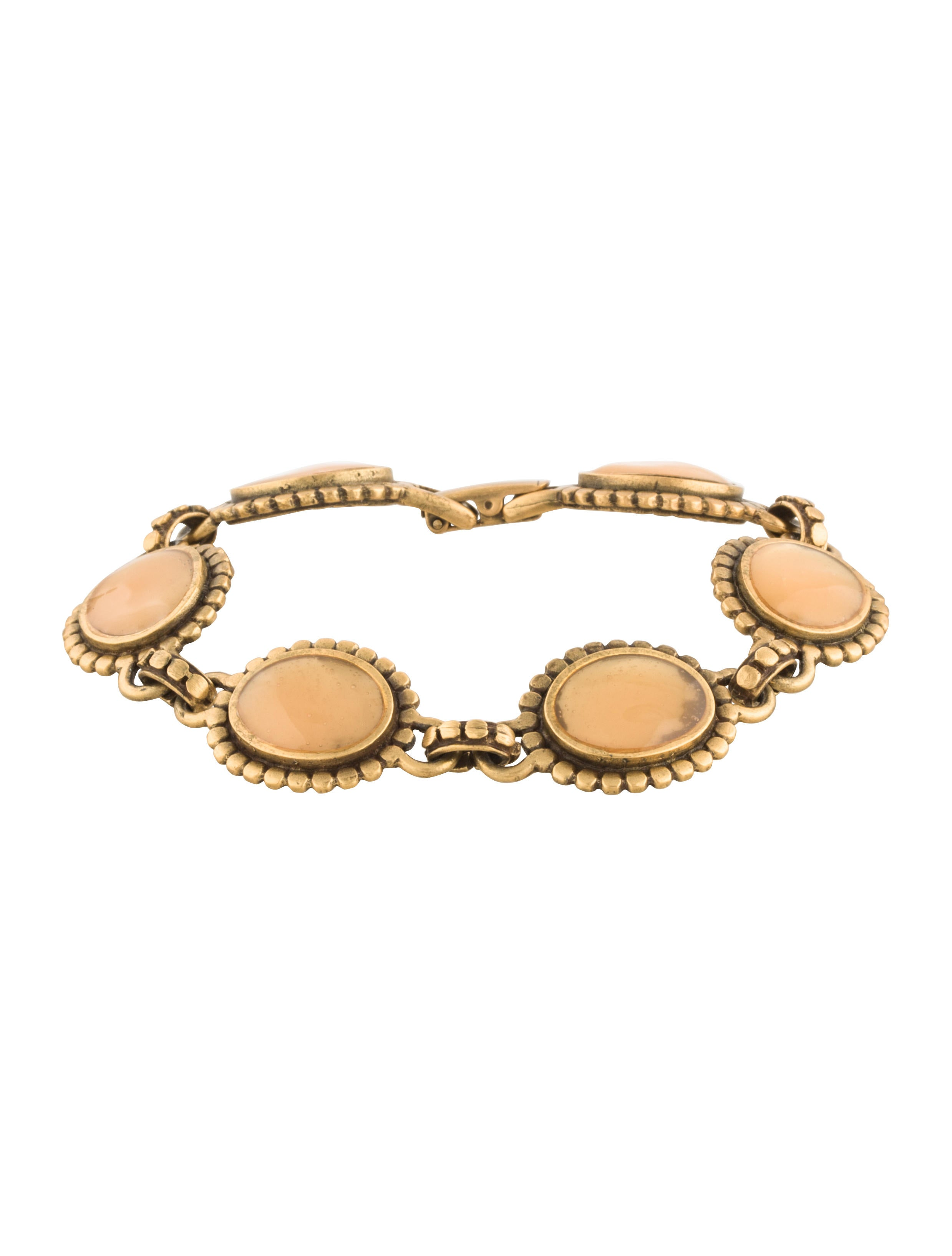 Yves saint laurent resin flower link bracelet bracelets yve66587 the realreal - Bracelet yves saint laurent ...