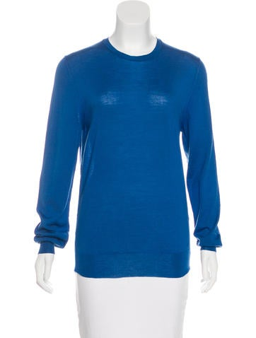 Yves Saint Laurent Virgin Wool Crew Neck Sweater None