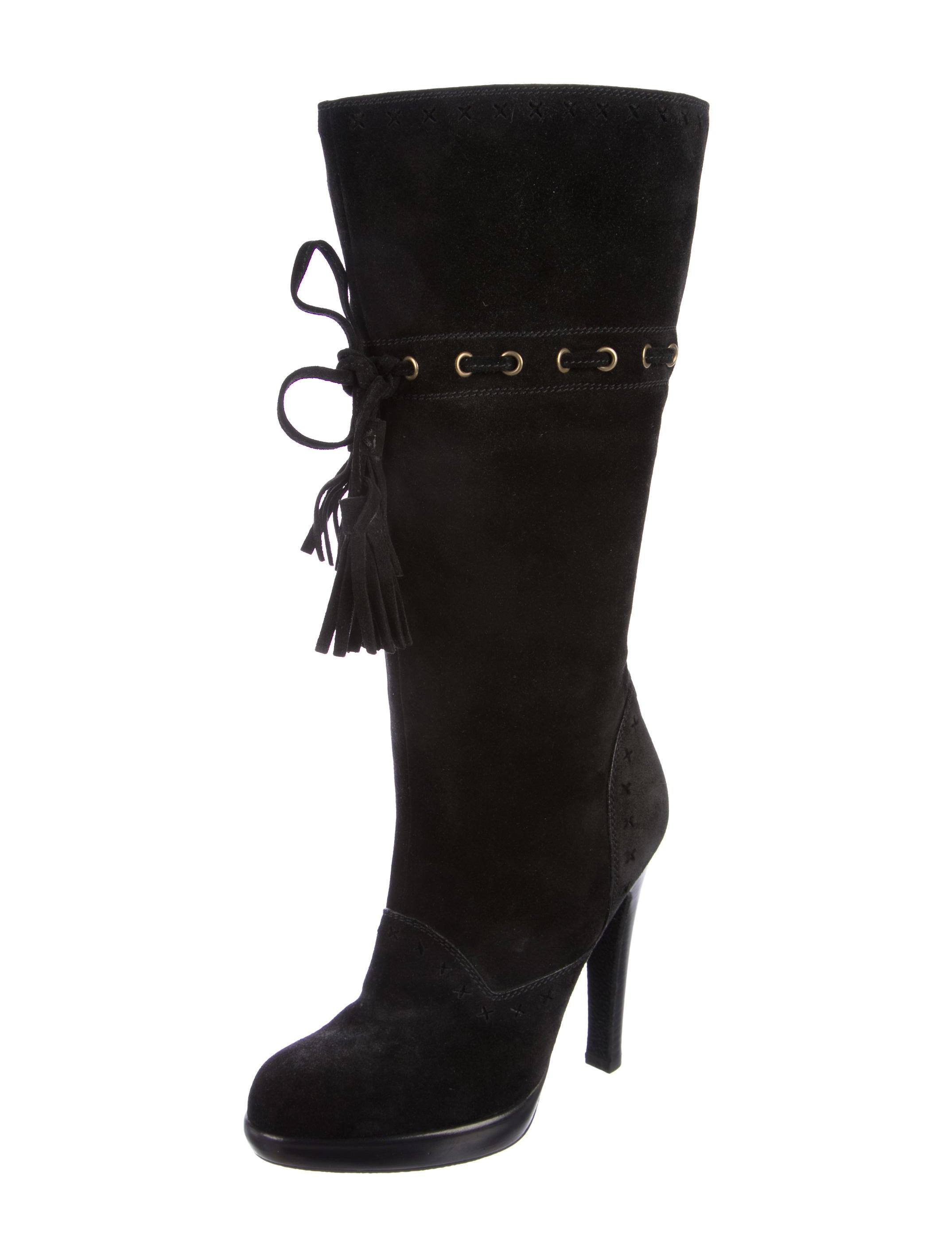 yves laurent tassel suede boots shoes yve66613