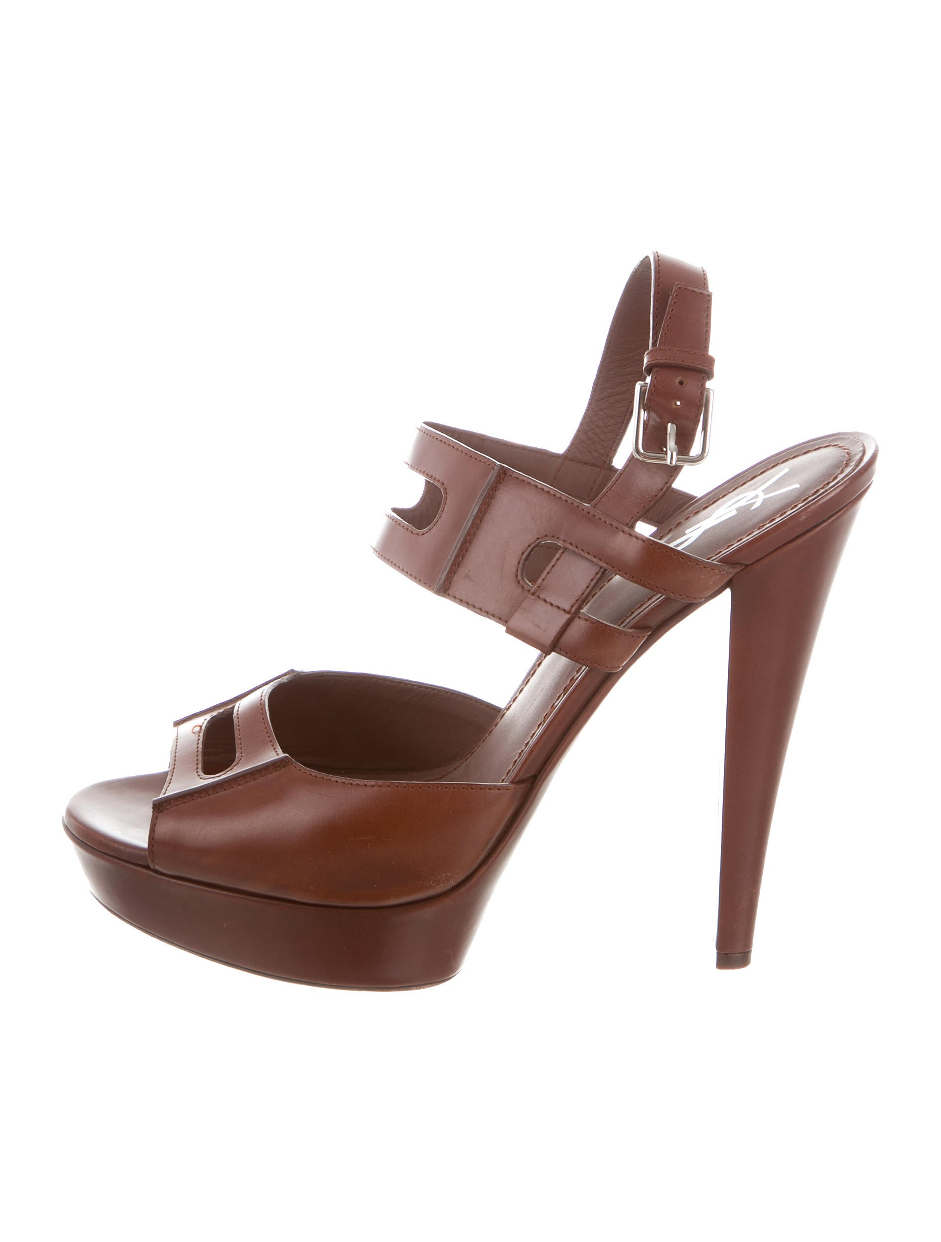 Yves Saint Laurent Platform Cutout Sandals quality for sale free shipping outlet store popular free shipping real UGXWidrgg
