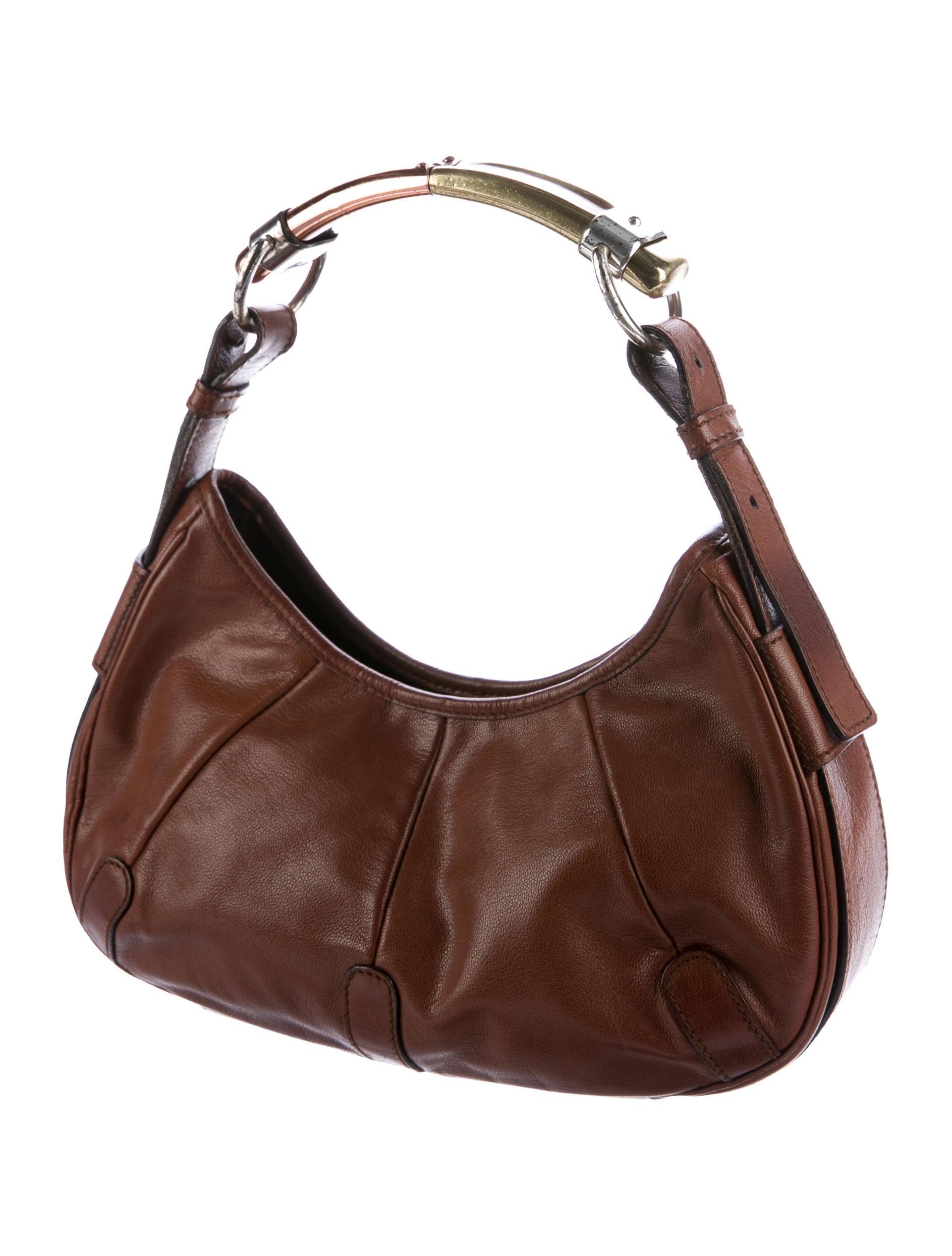 yves saint laurent leather mombasa bag handbags yve67461 the realreal. Black Bedroom Furniture Sets. Home Design Ideas