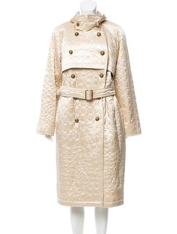 Yves Saint Laurent Matelassé Long Coat None