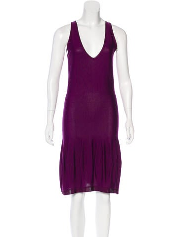 Yves Saint Laurent Knit Midi Dress None