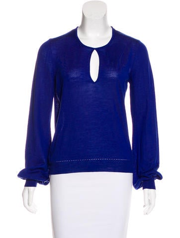 Yves Saint Laurent Wool Knit Sweatshirt None