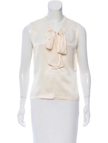 Yves Saint Laurent Sleeveless Silk Top None