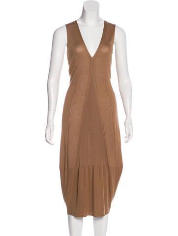 Yves Saint Laurent Sleeveless Cashmere & Silk Dress w/ Tags None
