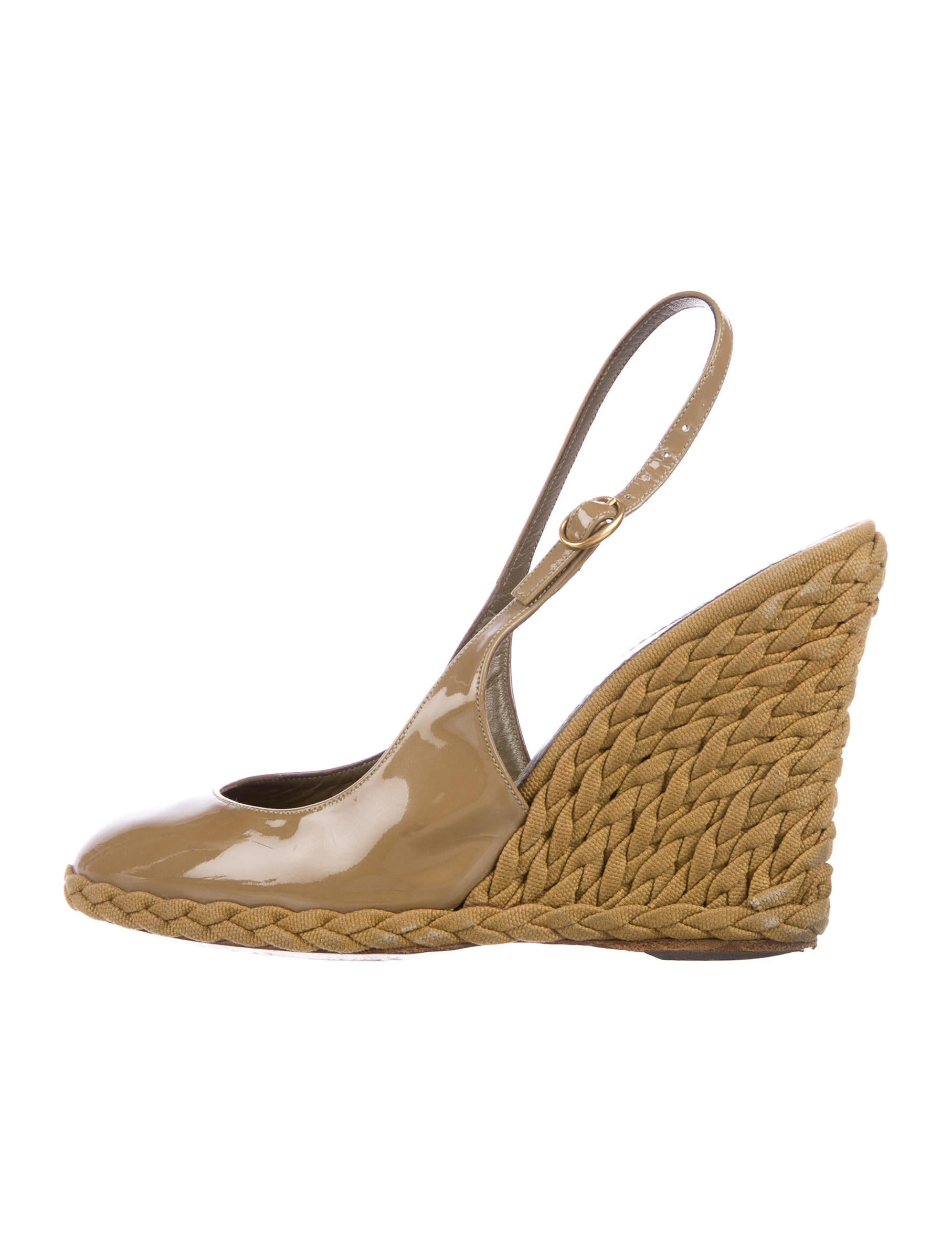 Yves Saint Laurent Slingback Wedge Pumps cheap pay with paypal kSRax0O6