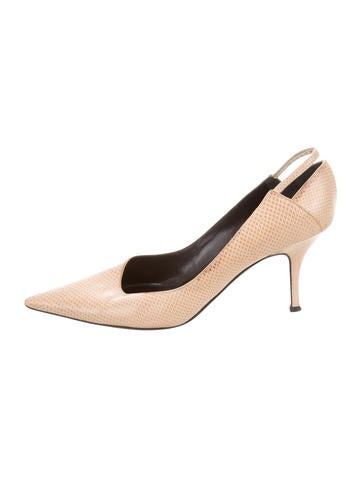 Yves Saint Laurent Karung Pointed-Toe Pumps visa payment sale online wholesale price online release dates cheap low price fee shipping Manchester cheap online lft6M2HU