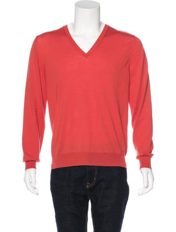 Yves Saint Laurent Wool V-Neck Sweater None