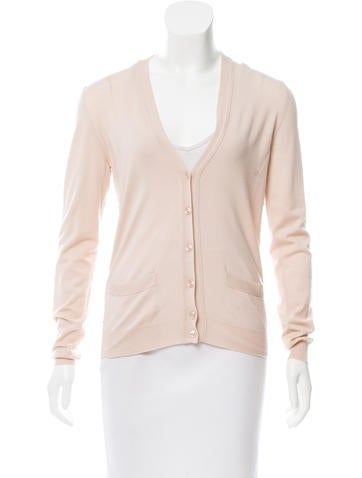 Yves Saint Laurent Embellished Wool Cardigan None