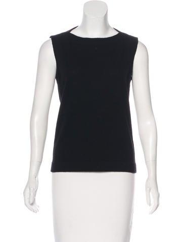 Yves Saint Laurent Sleeveless Wool-Blend Top None