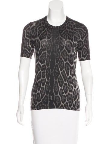 Yves Saint Laurent Wool-Blend Printed Top None
