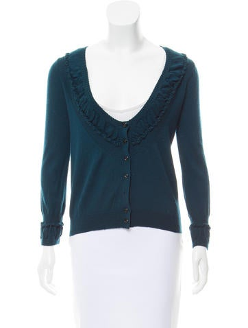 Yves Saint Laurent Wool Button-Up Cardigan None