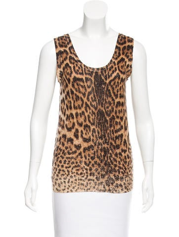 Yves Saint Laurent Printed Cashmere Top None