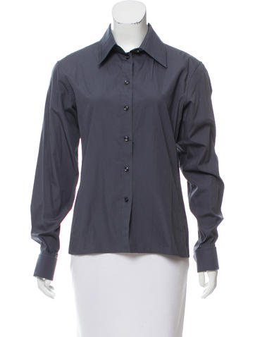 Yves Saint Laurent Long Sleeve Button-Up Top w/ Tags None