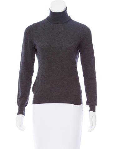 Yves Saint Laurent Turtleneck Wool Sweater None