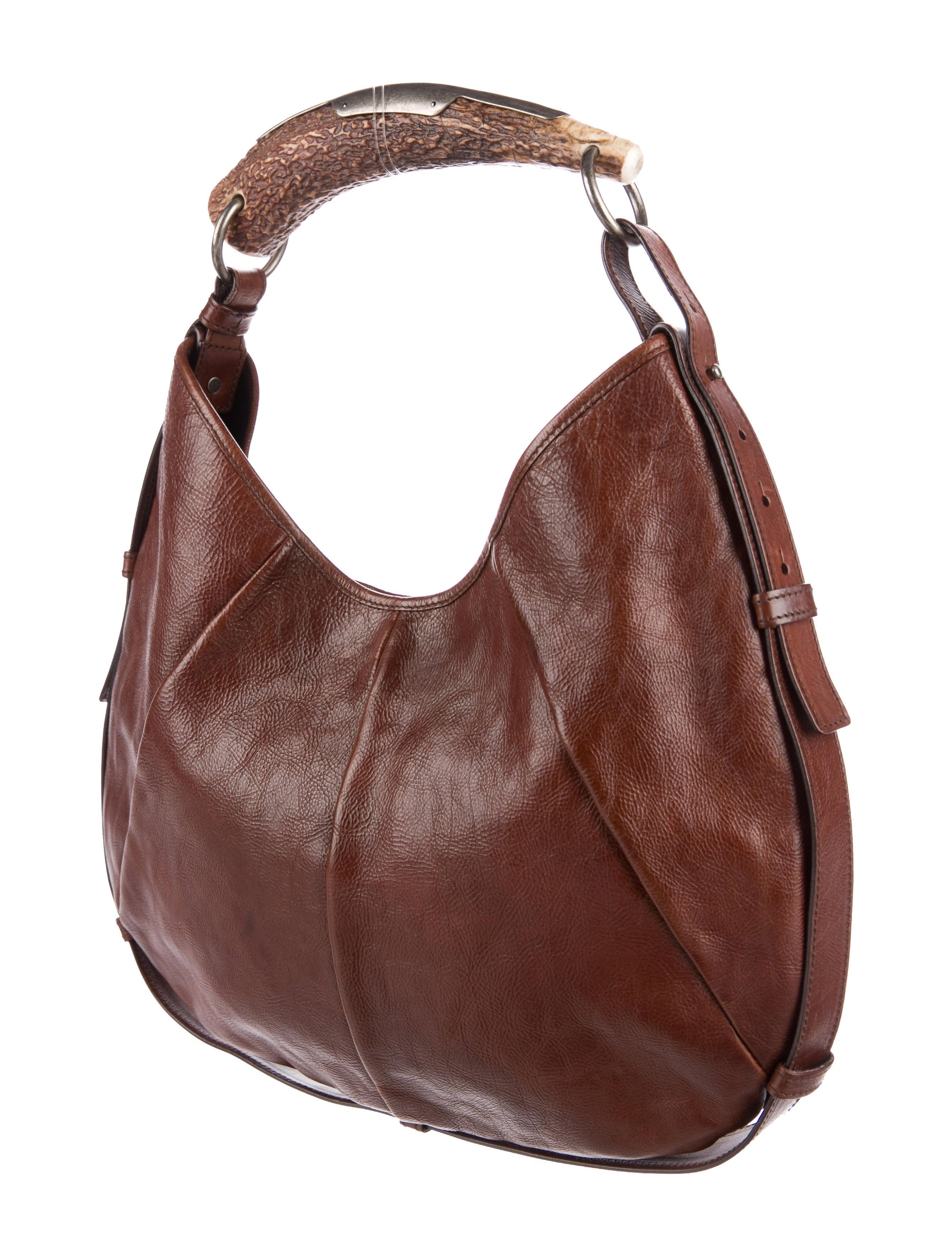 Yves Saint Laurent Leather Mombasa Bag Handbags