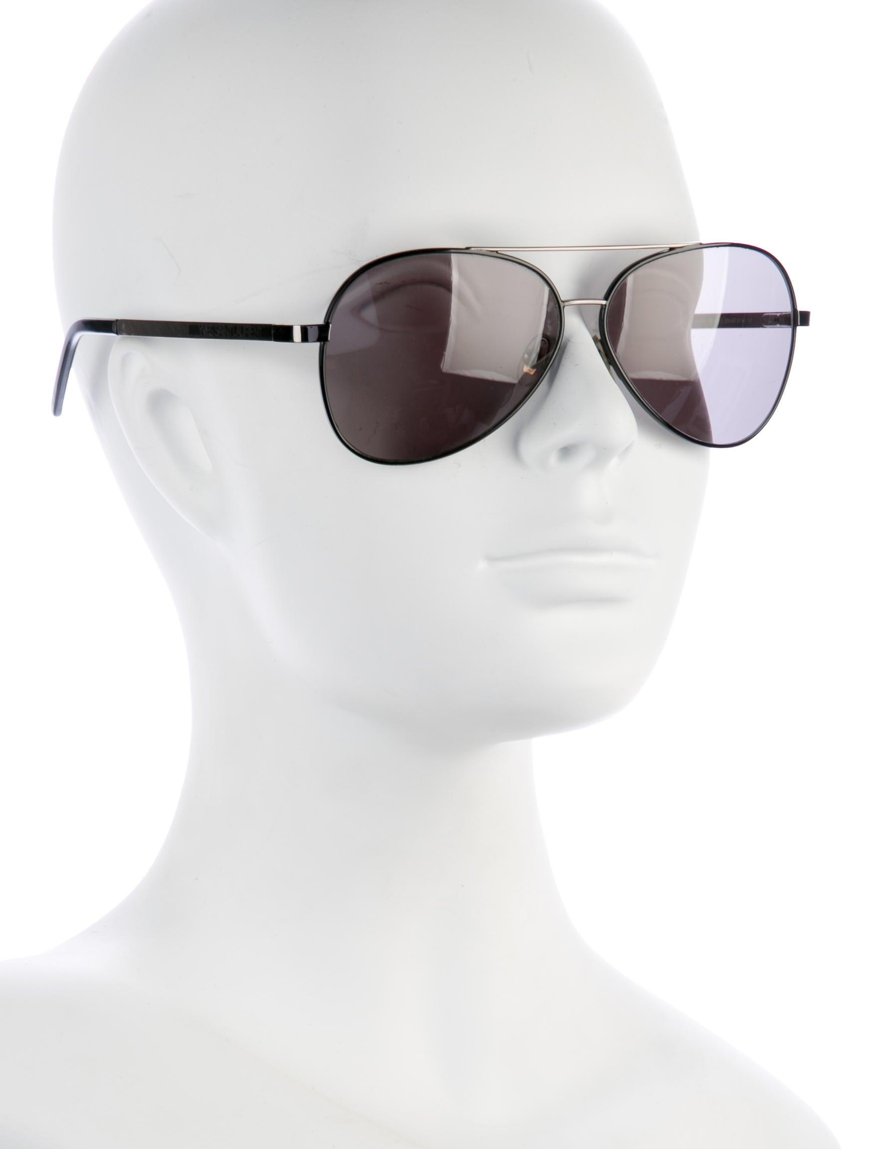 25f9c80031877 Ysl Aviator Sunglasses Black