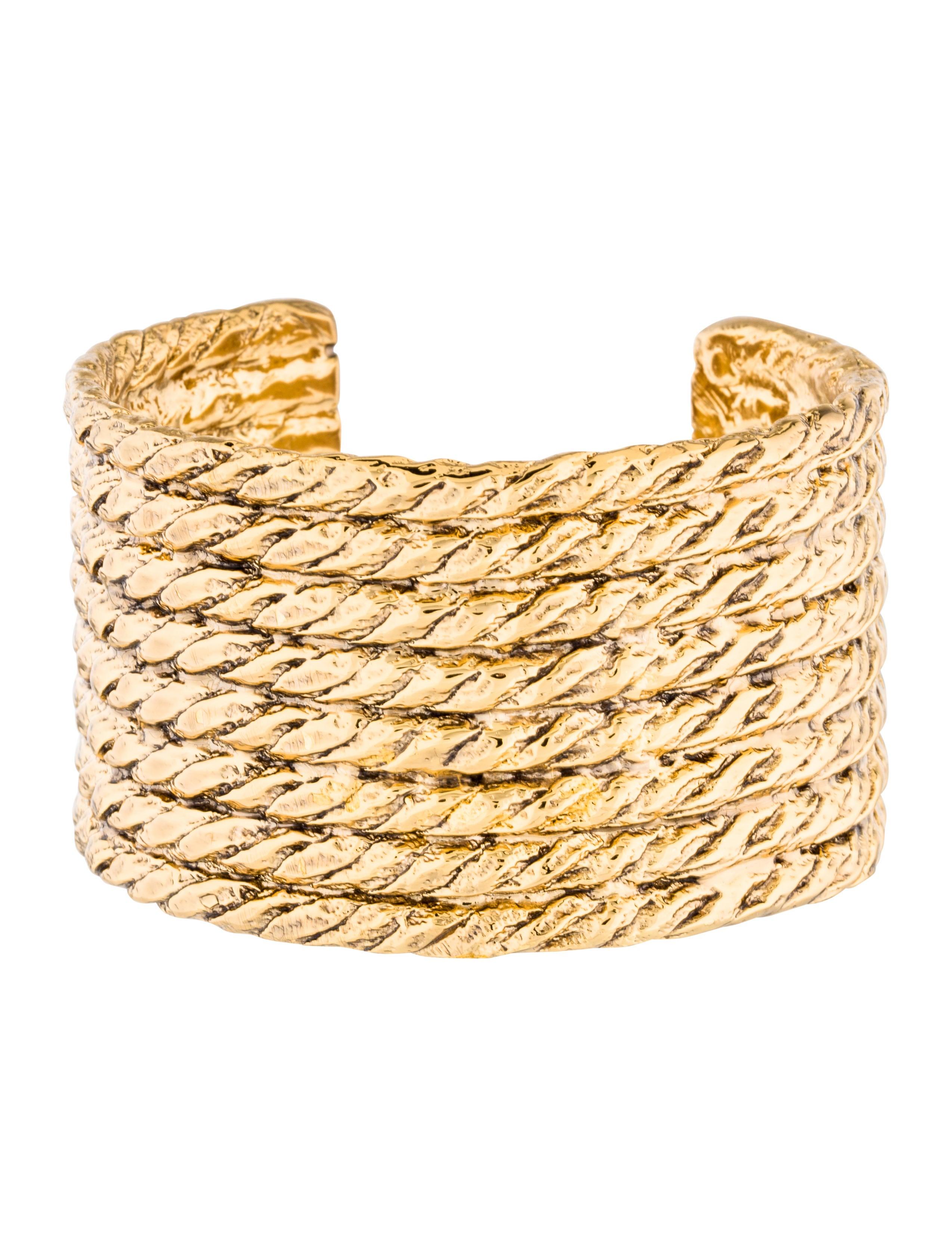 9573b040eef Yves Saint Laurent Rope Cuff - Bracelets - YVE71527 | The RealReal