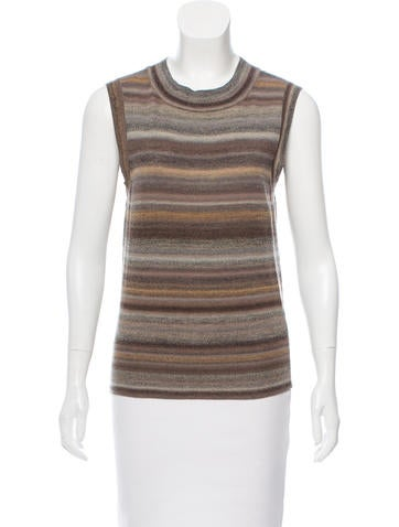 Yves Saint Laurent Striped Wool Top None