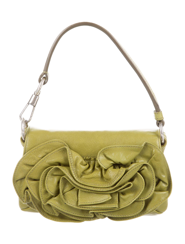 fd25702098 Yves Saint Laurent Mini Floral-Embellished Handle Bag - Handbags ...