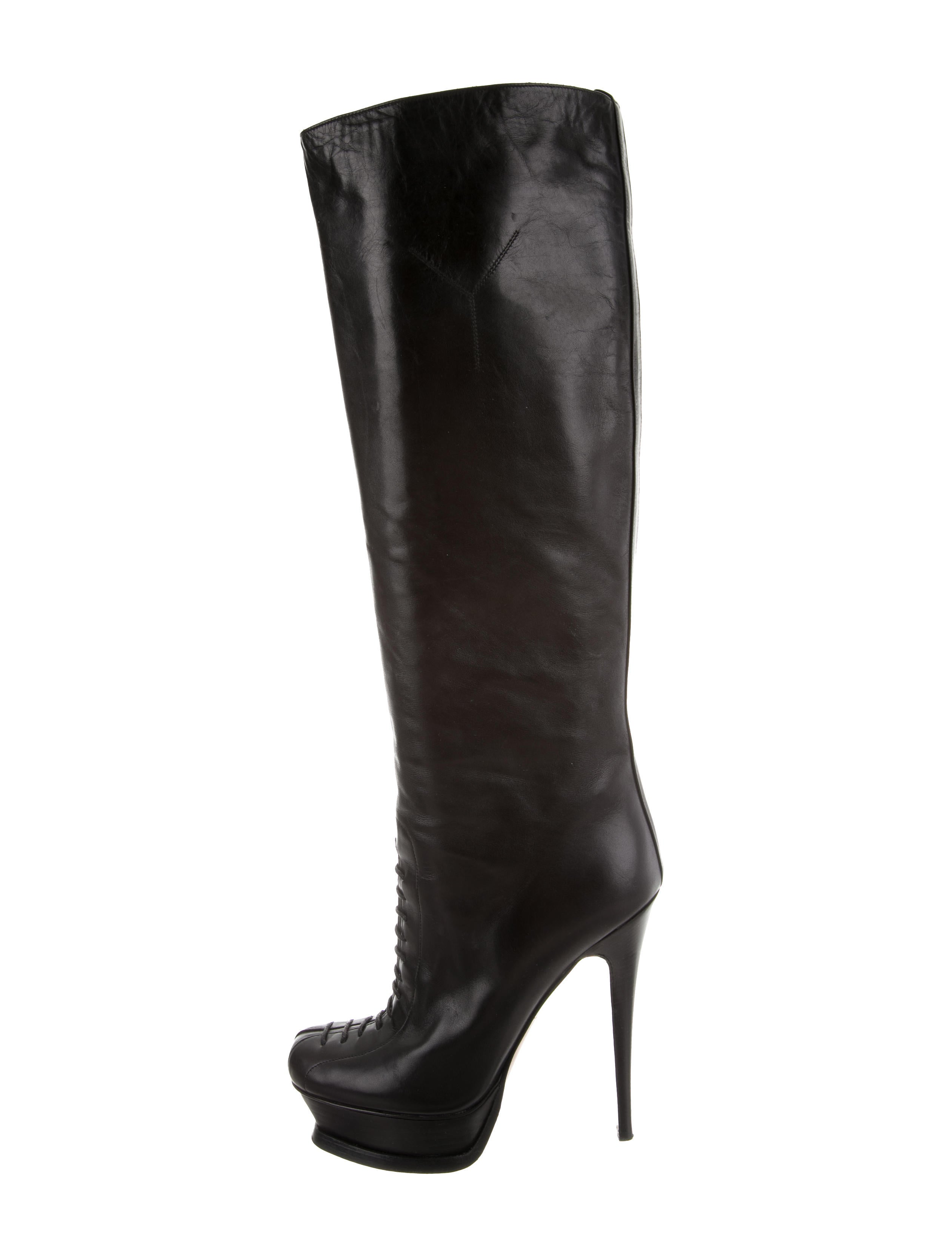 Yves Saint Laurent Lady Ascot Knee-High Boots exclusive cheap online fTdvo