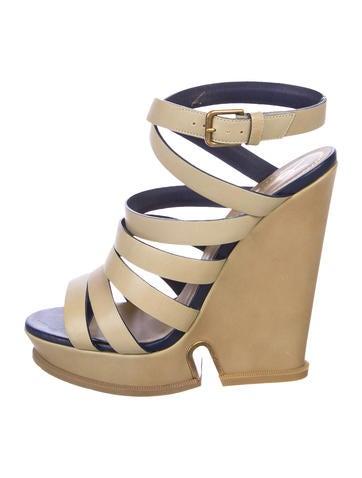 Yves Saint Laurent Multi-Strap Wedge Sandals shop offer online tSEyt