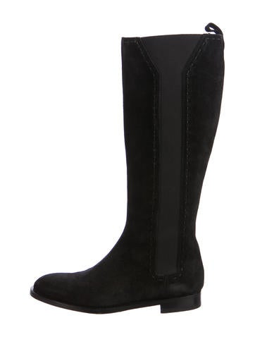 Yves Saint Laurent Knee-High Suede Boots None