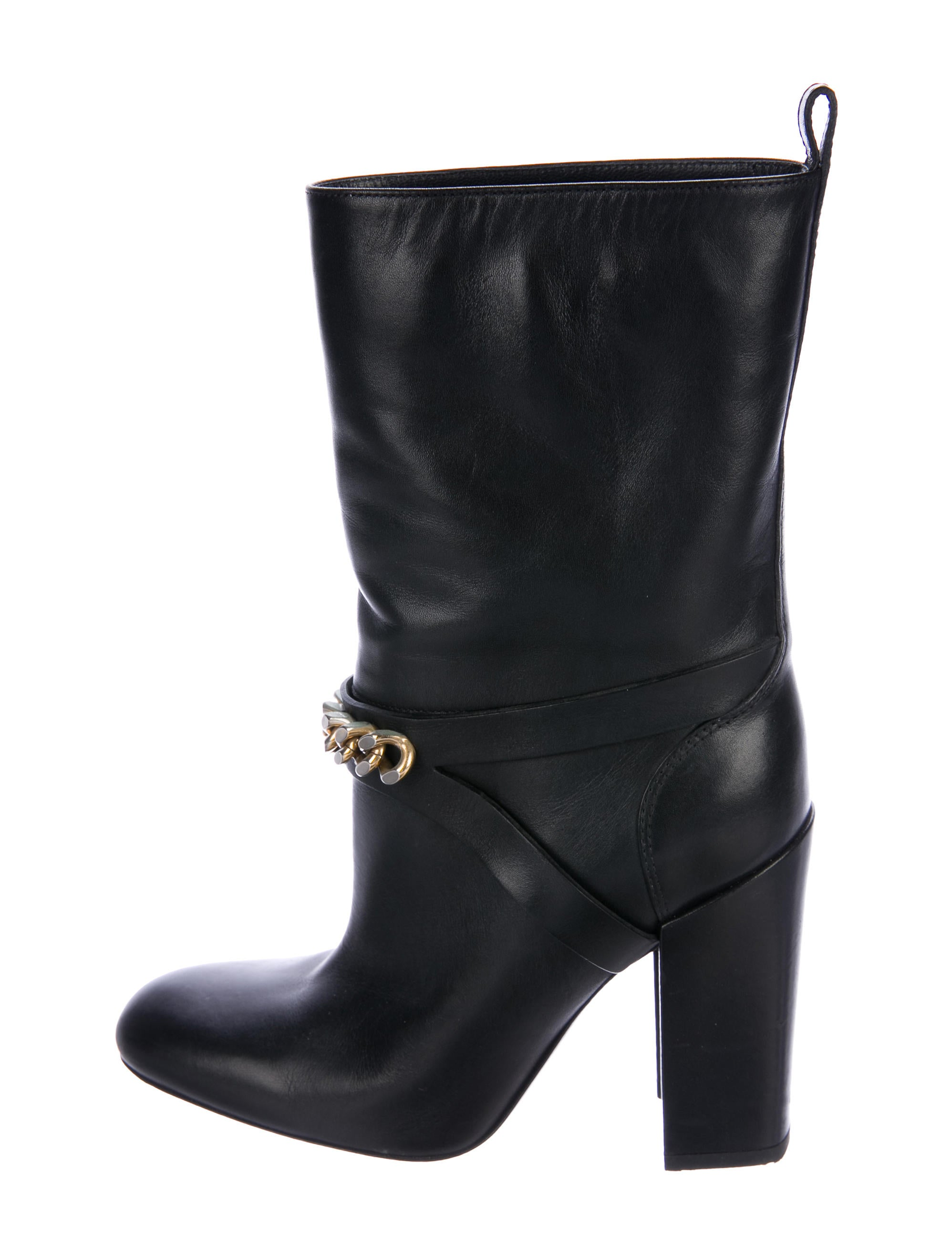 Saint Laurent Leather Chain-Link Booties buy cheap amazing price RHlpL8paG