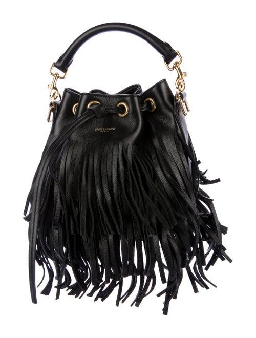 d76eb5499c0 Yves Saint Laurent Small Emmanuelle Fringe Bucket Bag - Handbags ...