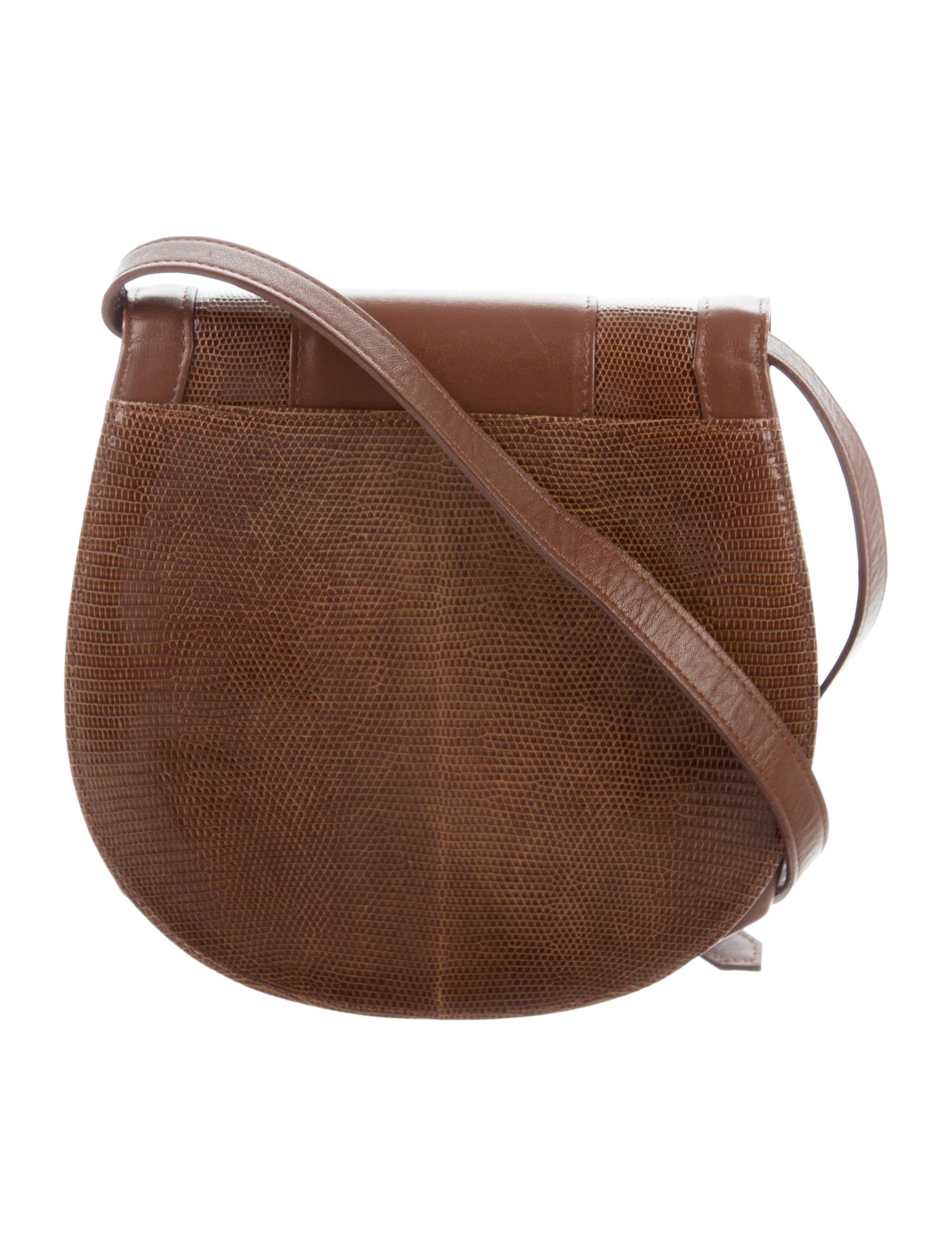 Yves Saint Laurent Lizard & Leather Crossbody Bag ...