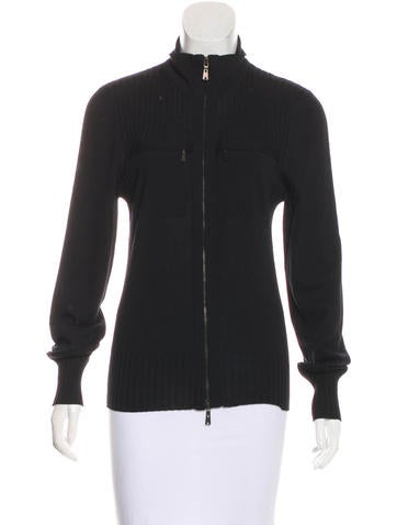 Yves Saint Laurent Wool Knit Jacket None