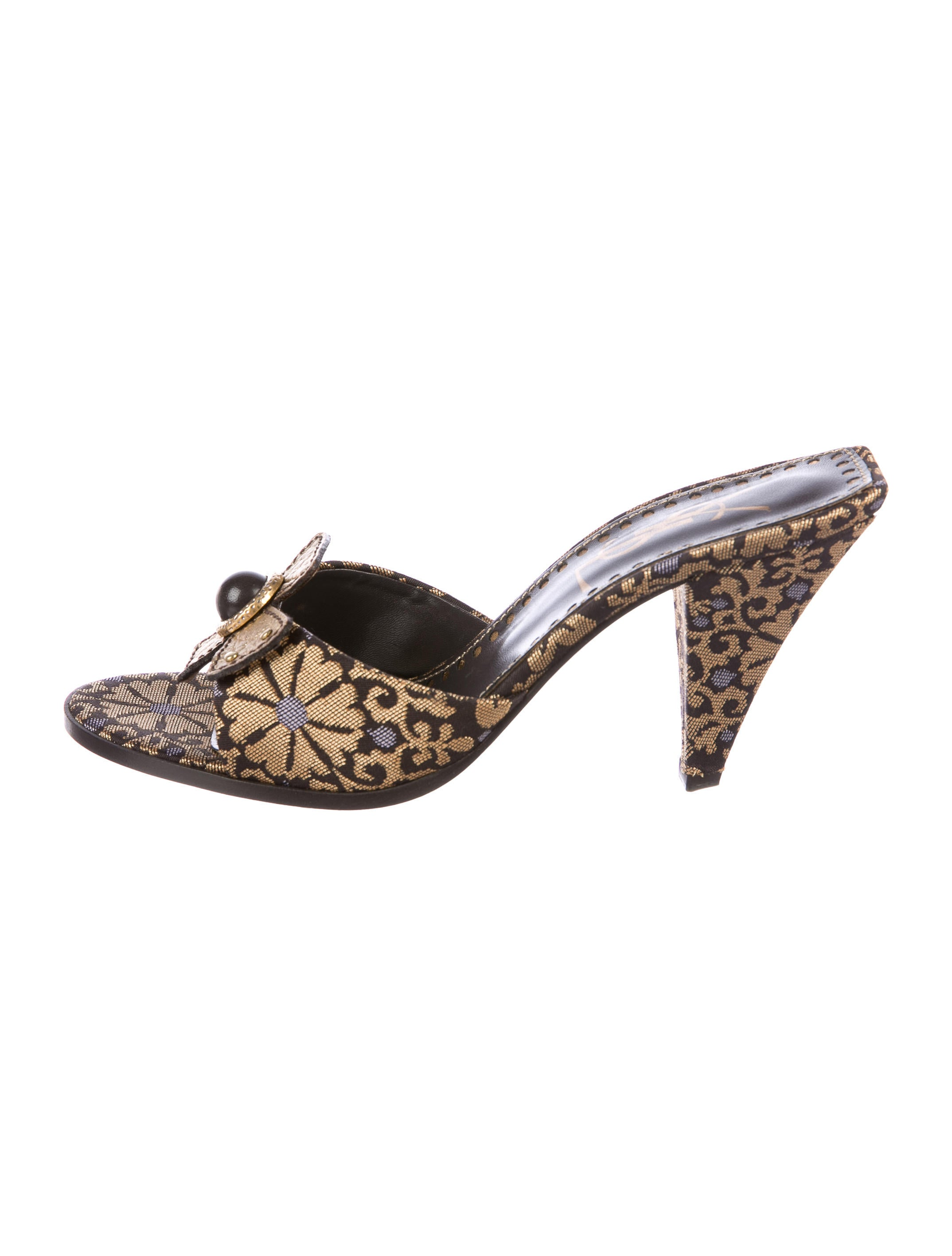 how much cheap online Yves Saint Laurent Embellished Brocade Slide Sandals cheap huge surprise discount comfortable outlet 100% authentic eJhjY