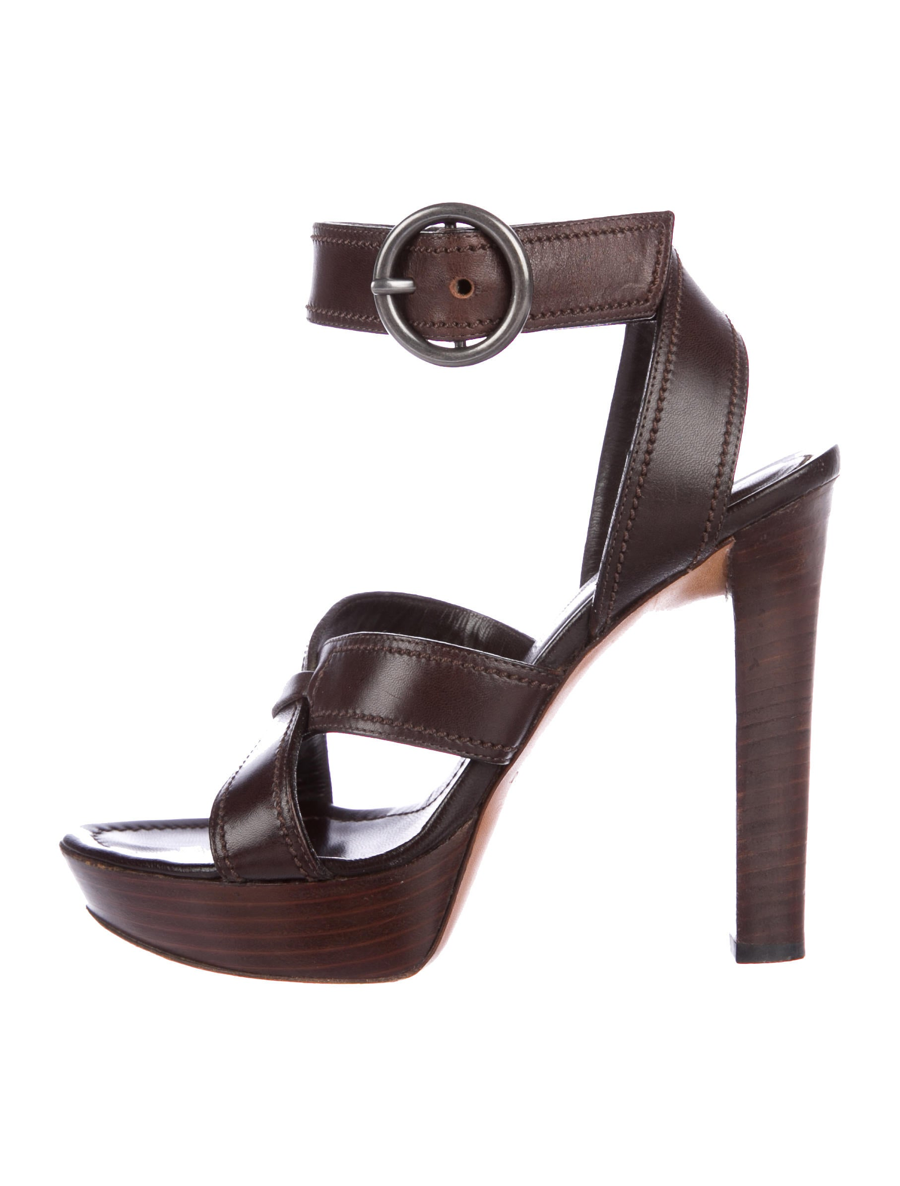 hot sale for sale Yves Saint Laurent Leather Crossover Sandals cheap looking for perfect for sale J8bpr4EHnH