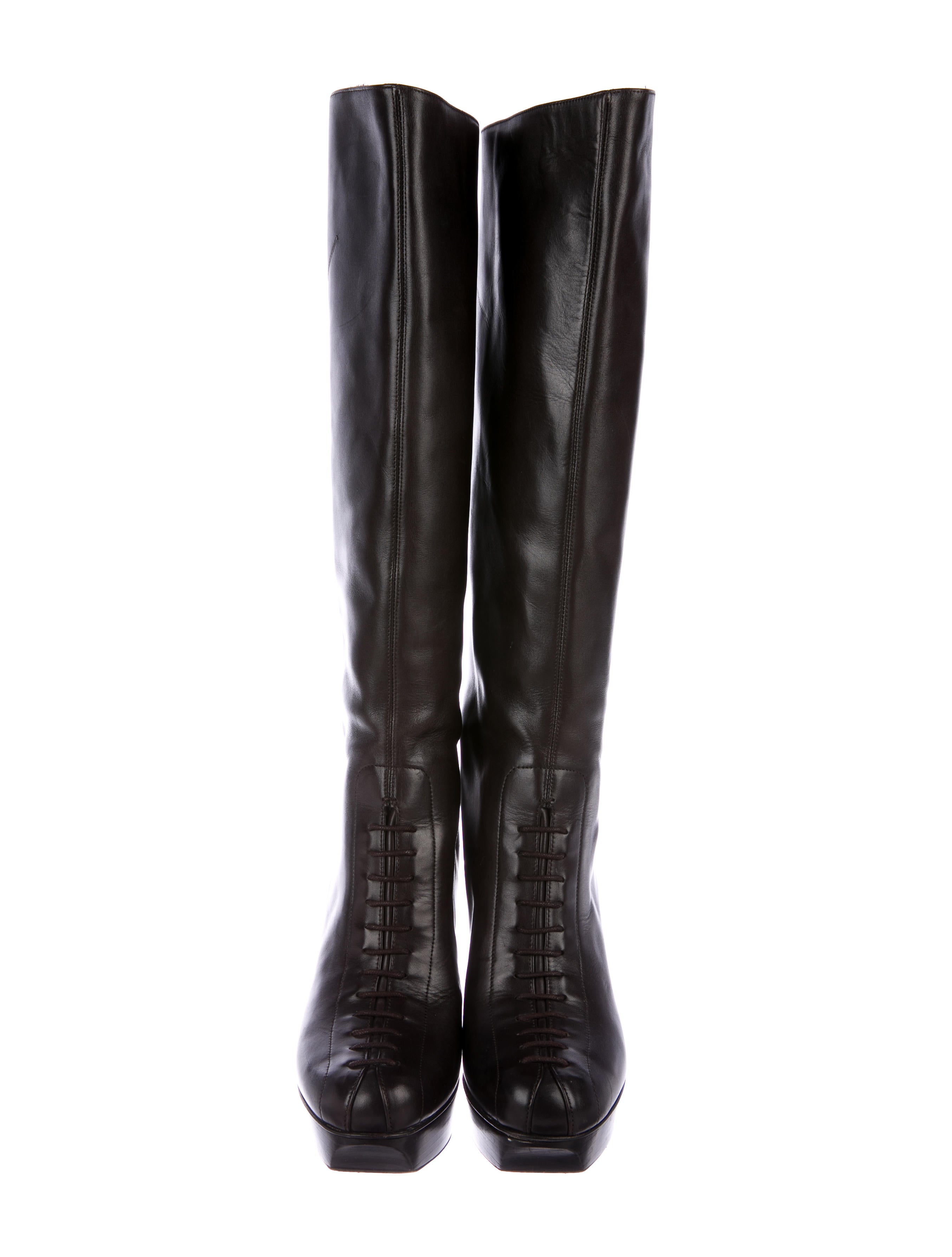 Yves Saint Laurent Lady Ascot Knee-High Boots buy cheap 100% guaranteed professional for sale iR5jYr