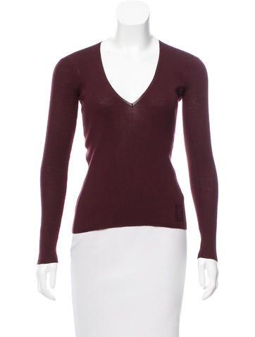 Yves Saint Laurent Long Sleeve Wool Sweater None