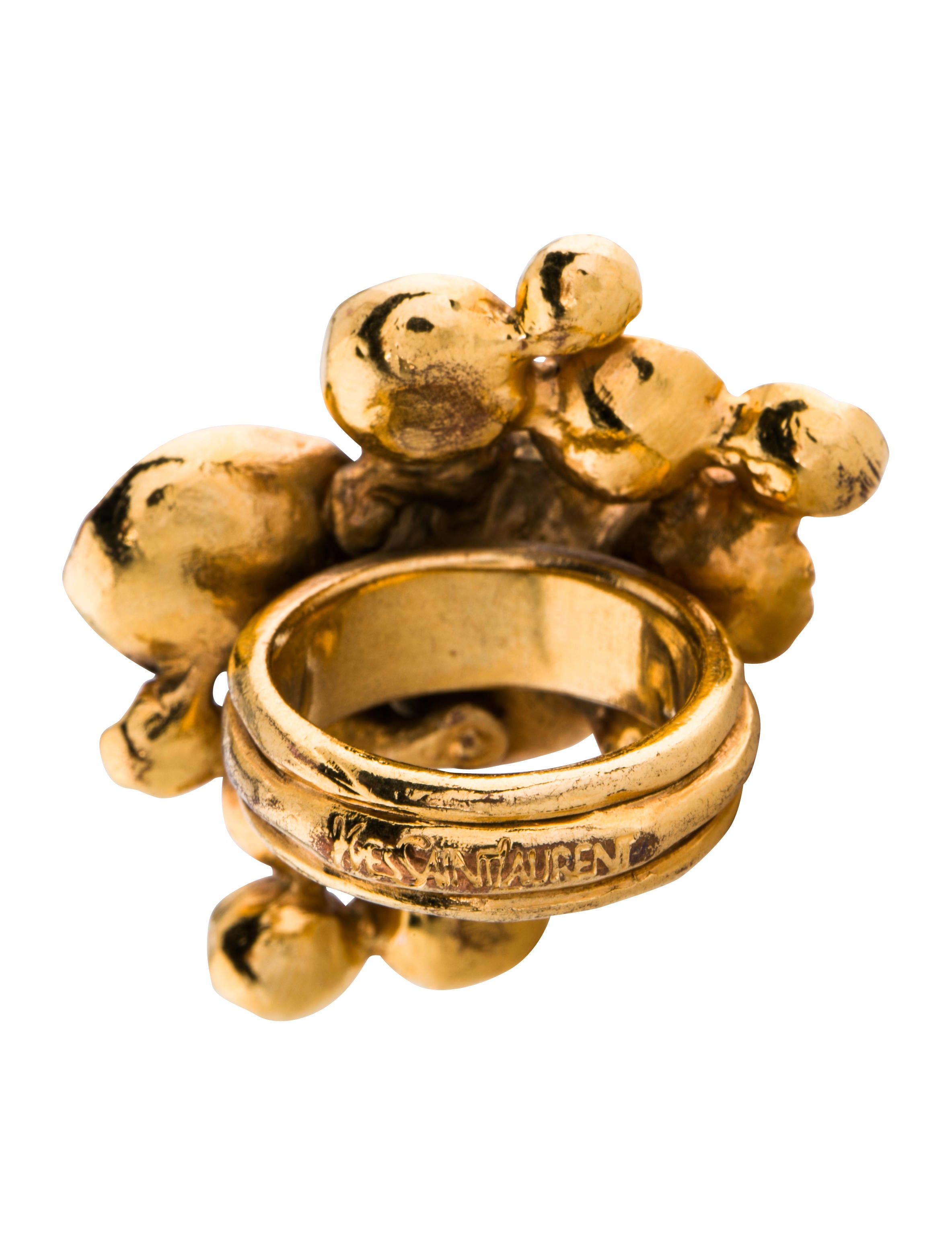 laurent flower rings the arty products realreal enlarged jewelry saint ring yves cocktail engagement