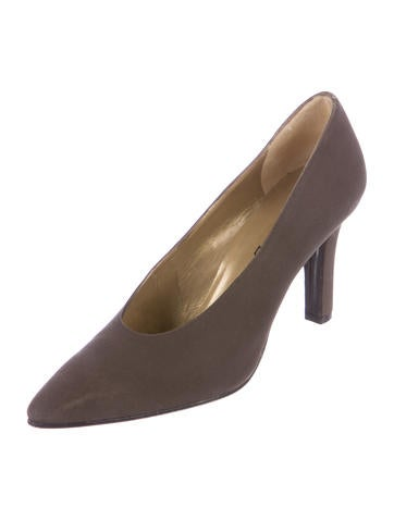 Canvas Pointed-Toe Pumps