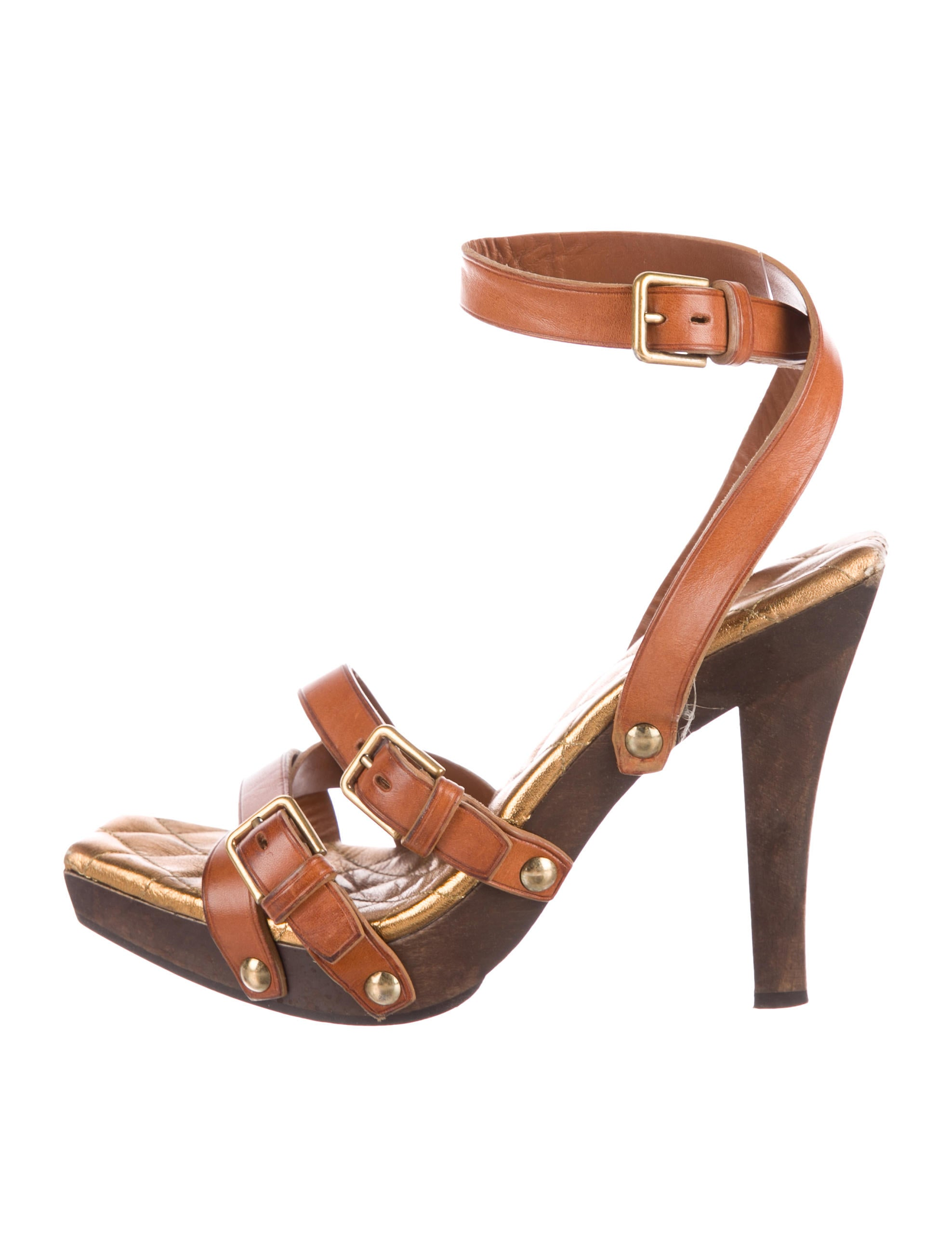 Yves Saint Laurent Leather Multistrap Sandals sale nicekicks pay with paypal cheap online visit online mSy83Dl